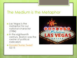 The Medium is the Metaphor PowerPoint PPT Presentation
