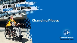 Changing Places PowerPoint PPT Presentation