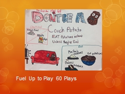 Fuel Up to Play 60 Plays