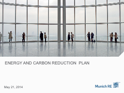Energy and Carbon Reduction  Plan