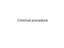 Criminal PowerPoint PPT Presentation