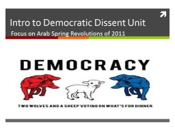 Intro to Democratic Dissent Unit