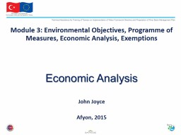 Module 3: Environmental Objectives,