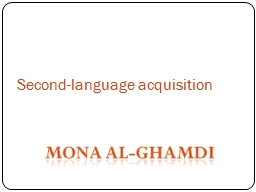 Second-language acquisition