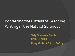 Pondering the Pitfalls of Teaching Writing in the Natural S