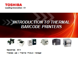 Introduction to Thermal Barcode Printers PowerPoint PPT Presentation