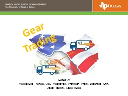 Gear Trading PowerPoint PPT Presentation