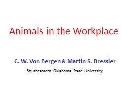 Animals in the Workplace