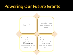 Powering Our Future Grants