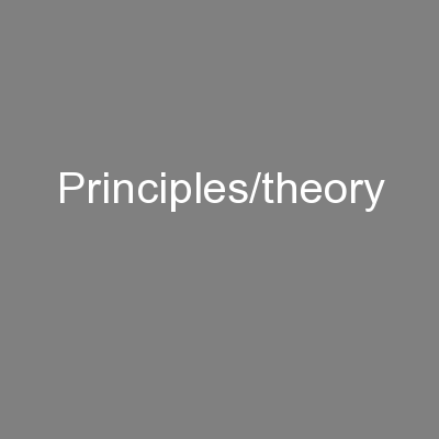 Principles/theory PowerPoint PPT Presentation