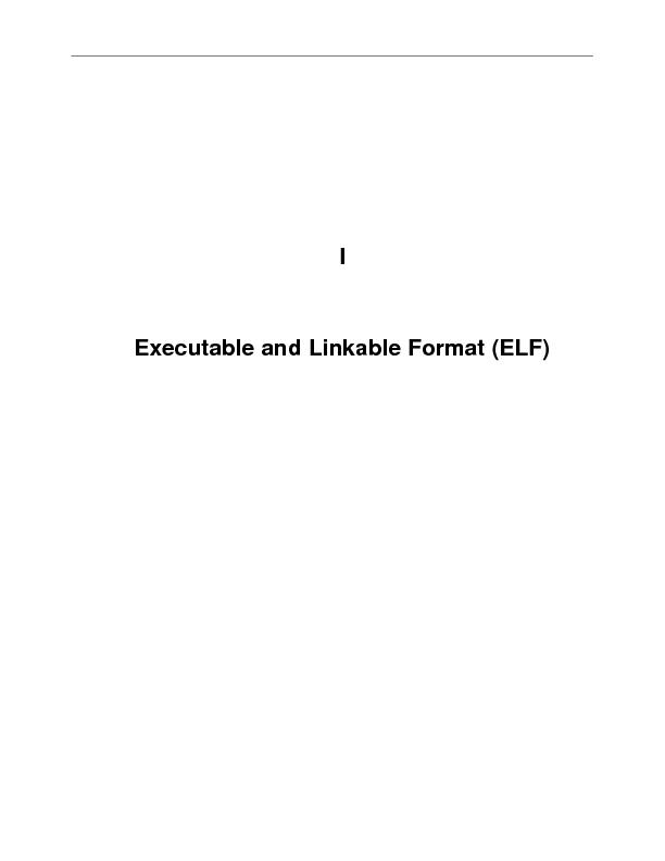 IExecutable and Linkable Format (ELF)