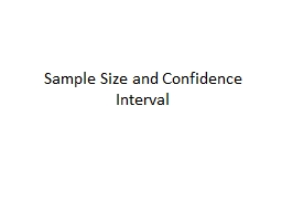Sample Size and Confidence Interval