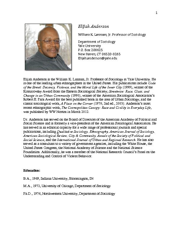 Streetwise: Race, Class, and Change in an Urban Community. Faculty Awa