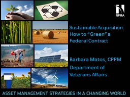Sustainable Acquisition PowerPoint PPT Presentation