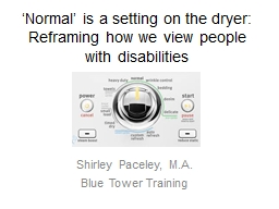 'Normal' is a setting on the dryer:
