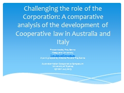 Challenging the role of the Corporation: A comparative anal