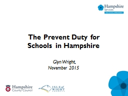 The Prevent Duty for Schools in Hampshire PowerPoint PPT Presentation