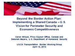 Beyond the Border Action Plan: