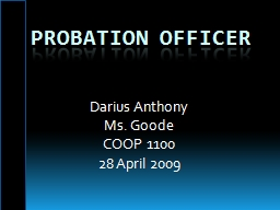 Probation Officer PowerPoint PPT Presentation