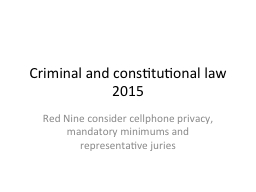 Criminal and constitutional law 2015