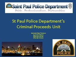 St Paul Police Department's