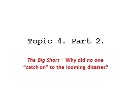 Topic 4. Part 2.