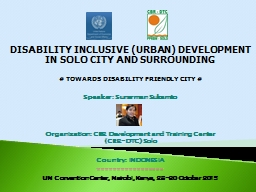DISABILITY INCLUSIVE (URBAN) DEVELOPMENT PowerPoint PPT Presentation