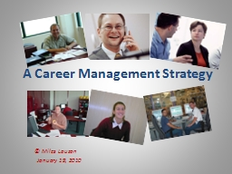 A Career Management Strategy