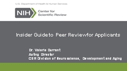Insider Guide to Peer Review for Applicants