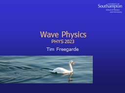 Wave Physics PowerPoint PPT Presentation
