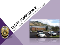 Clery compliance PowerPoint PPT Presentation
