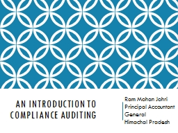 An Introduction to Compliance Auditing PowerPoint PPT Presentation