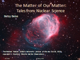 The Matter of Our Matter: