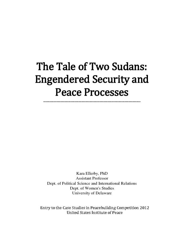 The Tale of Two Sudans: