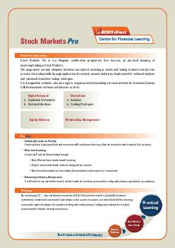 Stock Markets Pro About the programme Equity Research a