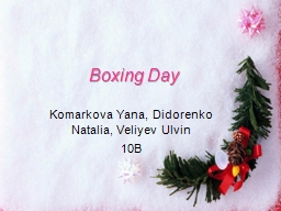 Boxing Day PowerPoint PPT Presentation