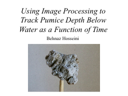 Using Image Processing to Track