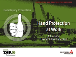 Hand Protection at Work
