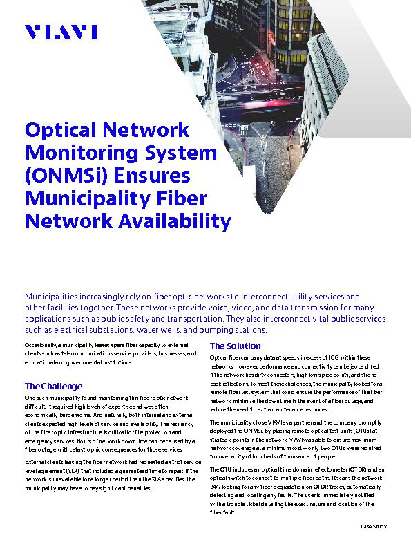 Municipalities increasingly rely on fiber optic networks to interconne