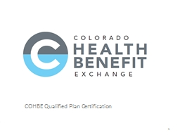 COHBE Qualified Plan Certification