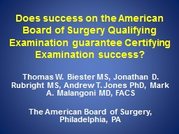 Does success on the American Board of Surgery
