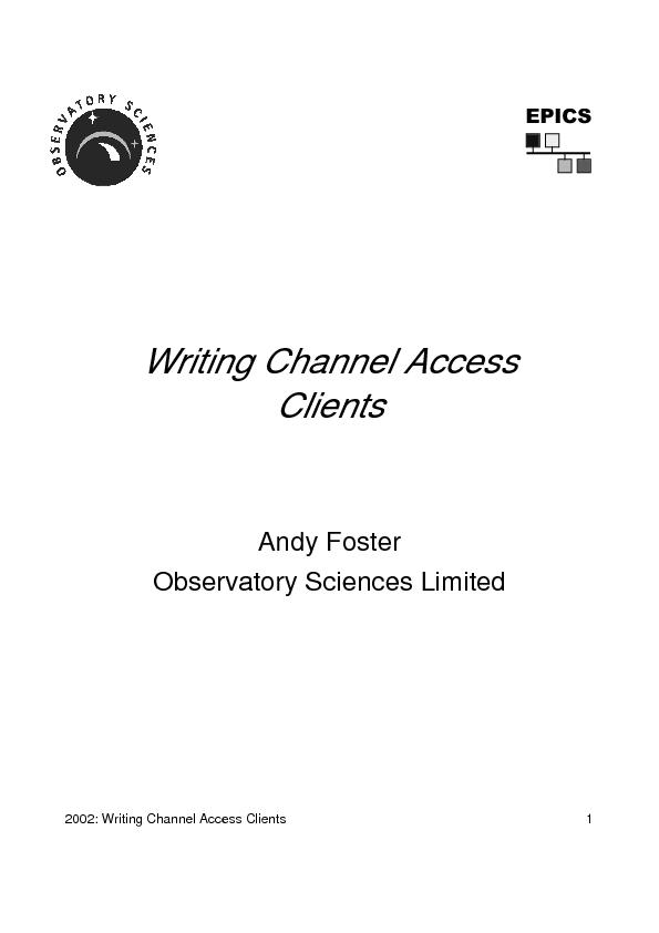Writing Channel AccessClients