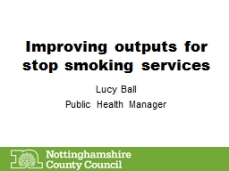 Improving outputs for stop smoking services