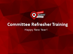 Committee Refresher Training PowerPoint PPT Presentation