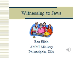 Witnessing to Jews PowerPoint PPT Presentation