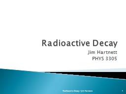 Radioactive Decay PowerPoint PPT Presentation