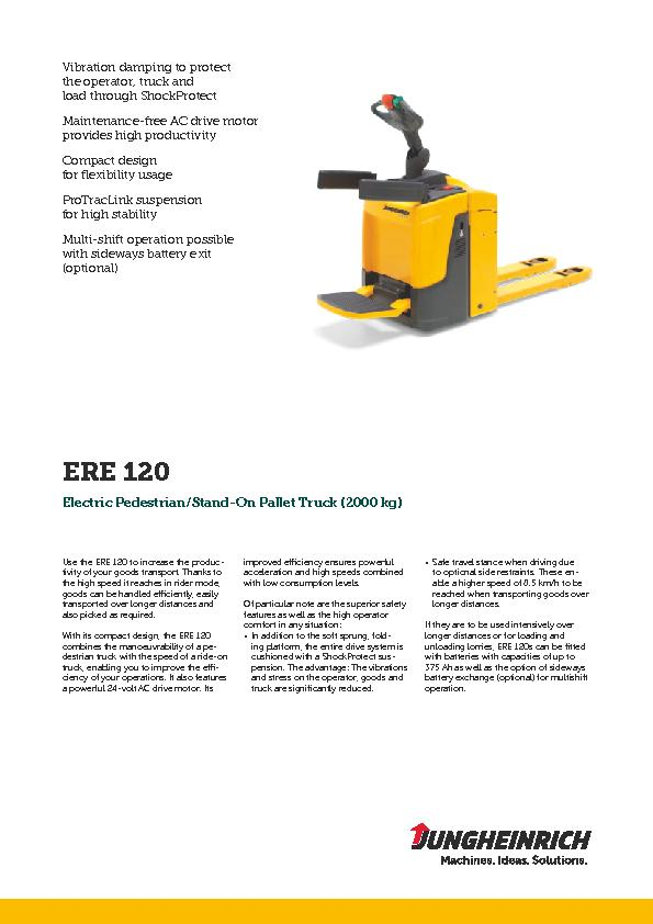 Use the ERE 120 to increase the productivity of your goods transport.