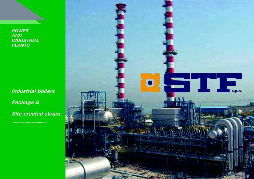 Package & Site erected steamUnder licence from Foster Wheeler