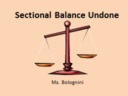 Sectional Balance Undone PowerPoint PPT Presentation
