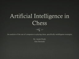Artificial Intelligence in Chess PowerPoint PPT Presentation
